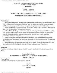 undang undang nomor 9 tahun 1995 tentang usaha kecil
