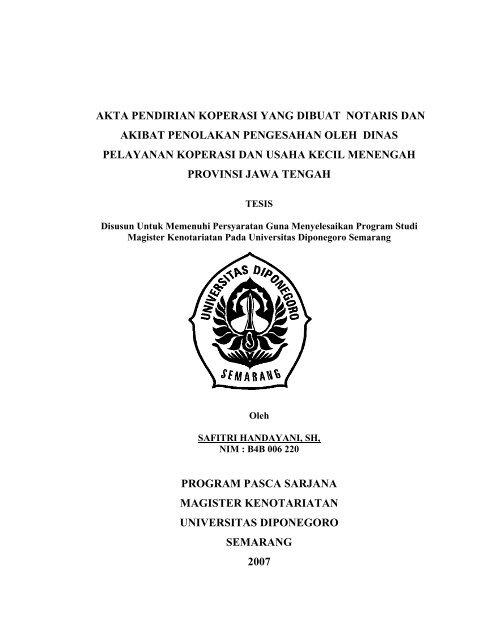 Akta Pendirian Koperasi Yang Dibuat Notaris Dan Akibat