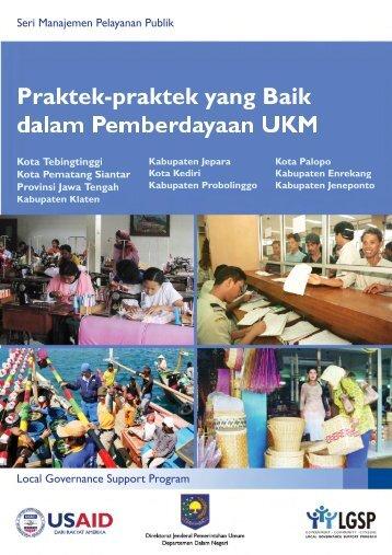 Praktek-Praktek yang Baik Dalam Pemberdayaan UKM - usaid