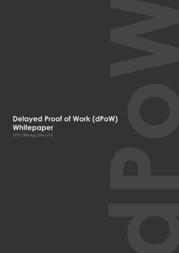 Delayed Proof of Work (dPoW) Whitepaper