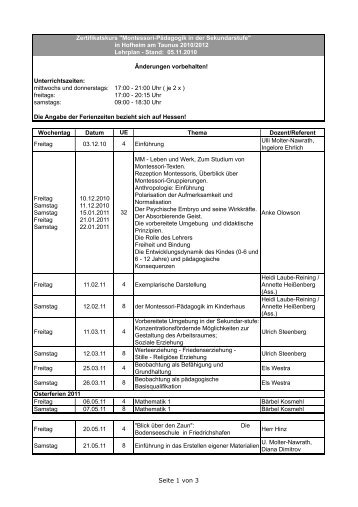 Terminplan Z-Kurs, fertig - Montessori-Zentrum Hofheim