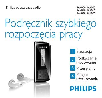 Philips Baladeur audio à mémoire flash - Guide de mise en route - POL