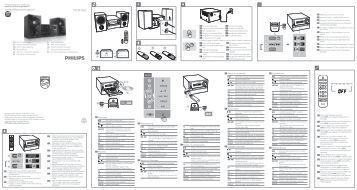 Philips Microchaîne - Guide de mise en route - ESP