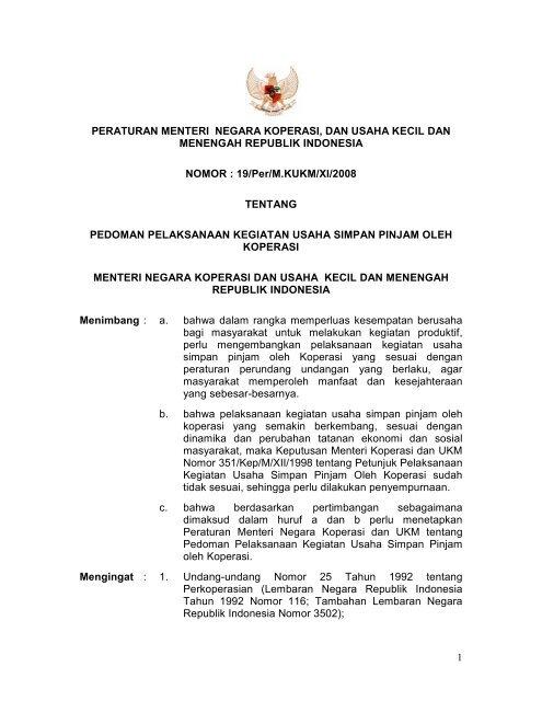 1 Peraturan Menteri Negara Koperasi Dan Smecda