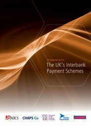The UK's Interbank Payment Schemes