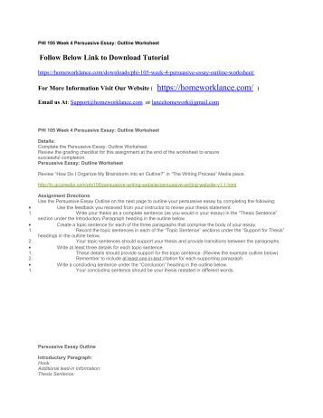 Persuasive Essay Examples For Middle School Persuasive Essay