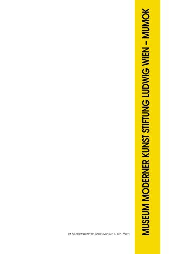 MUSEUM MODERNER KUNST STIFTUNG LUDWIG WIEN – MUMOK