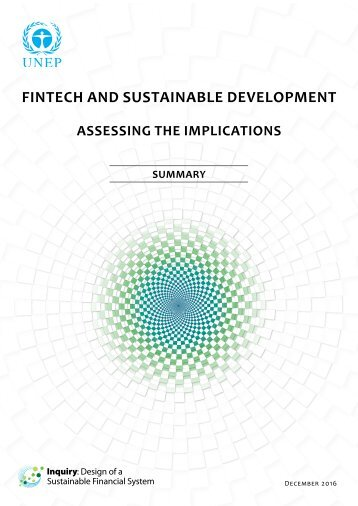 FINTECH AND SUSTAINABLE DEVELOPMENT