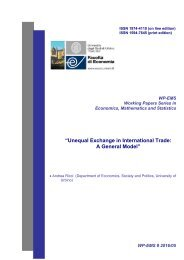 """""""Unequal Exchange in International Trade A General Model"""""""