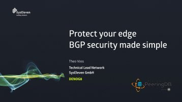 Protect your edge BGP security made simple