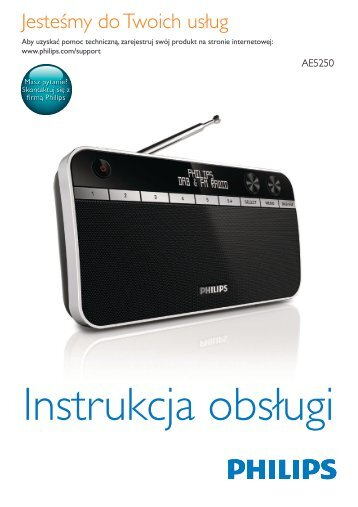 Philips Radio portable - Mode d'emploi - POL