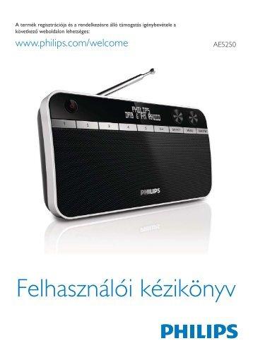 Philips Radio portable - Mode d'emploi - HUN