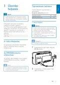 Philips Radio portable - Mode d'emploi - HUN - Page 6