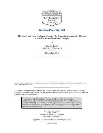 Working Paper No 878