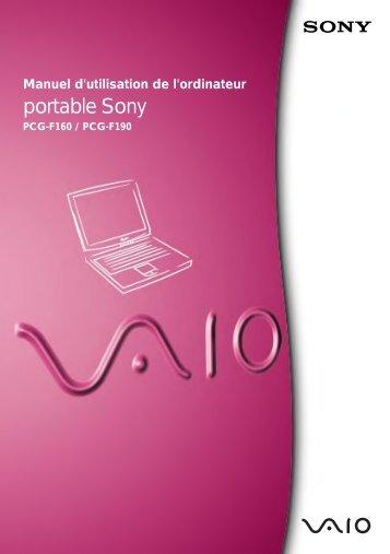 Sony PCG-F190 - PCG-F190 Istruzioni per l'uso Francese