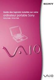 Sony PCG-F190 - PCG-F190 Manuale software Francese