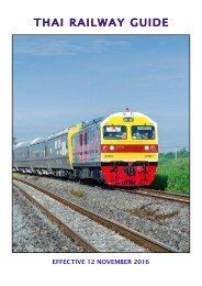 THAI RAILWAY GUIDE