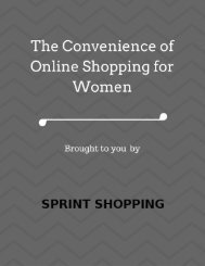 The Convenience of Online Shopping for Women.