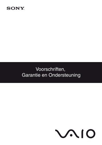 Sony VPCEE2E1E - VPCEE2E1E Documenti garanzia Olandese