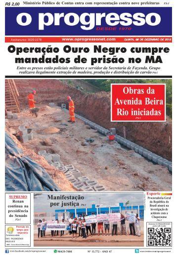 O Progresso, edição de 08 dezembro de 2016