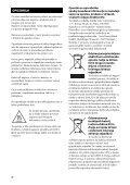 Sony STR-DA2800ES - STR-DA2800ES Istruzioni per l'uso Sloveno - Page 2