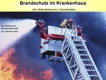 Brandschutz im Krankenhaus