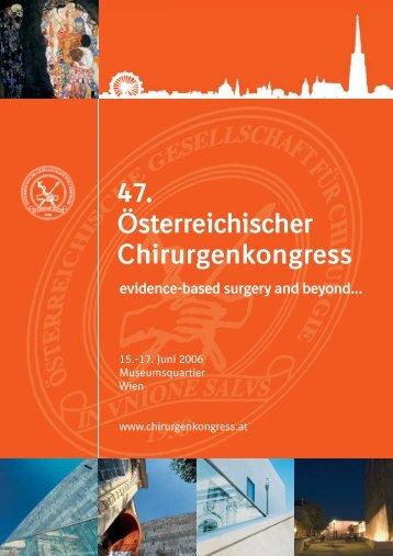 47. Österreichischer Chirurgenkongress - 54. Österreichischer ...