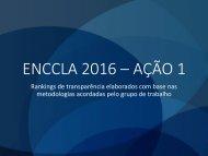 ENCCLA 2016 – AÇÃO 1