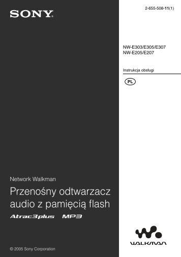 Sony NW-E307 - NW-E307 Istruzioni per l'uso Polacco