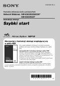Sony NW-E307 - NW-E307 Istruzioni per l'uso Polacco - Page 3