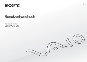 Sony VGN-CS31MR - VGN-CS31MR Istruzioni per l'uso Tedesco