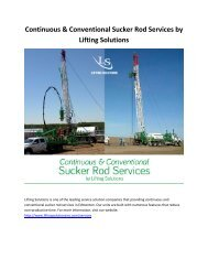 Continuous & Conventional Sucker Rod Services by Lifting Solutions