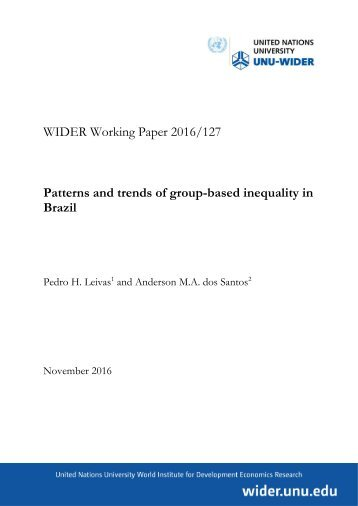 Patterns and trends of group-based inequality in Brazil