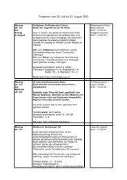 Programm vom 28 - Stadt Aalen
