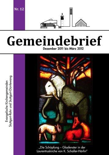 Gemeindebrief - Laurentiuskirche