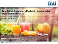 Low-Calorie Sweeteners Market