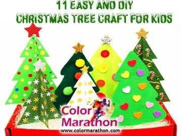 11 Easy and DIY Christmas Tree Craft for Kids