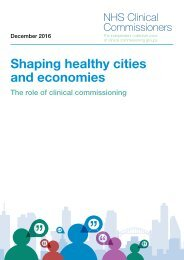 Shaping healthy cities and economies