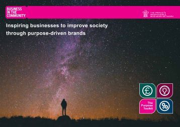 Inspiring businesses to improve society through purpose-driven brands