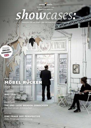 showcases Fokus Sonderbauten und Möbel