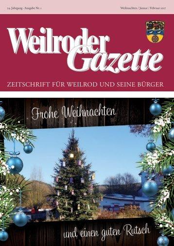 Weilroder Gazette Januar/Februar 2017
