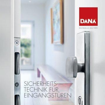Dana Sicherheitstechnik für Eingangstüren