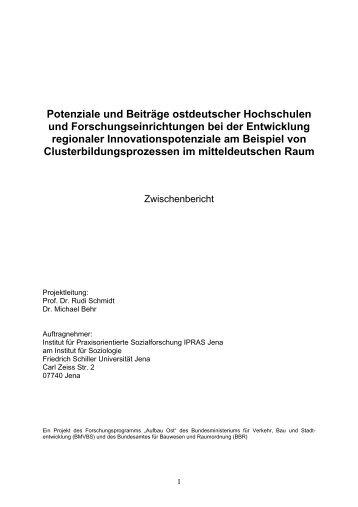 Potenziale und Beiträge ostdeutscher Hochschulen und ...