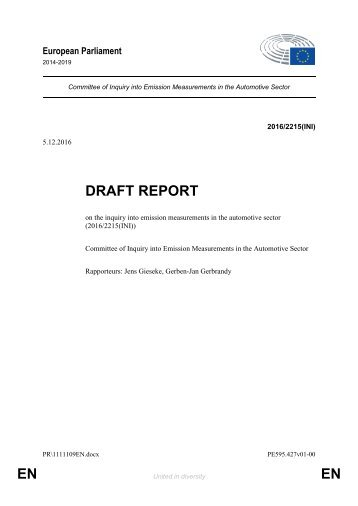 DRAFT REPORT EN EN