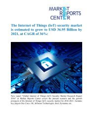 The Internet of Things (IoT) security market is estimated to grow to USD 36.95 Billion by 2021, at CAGR of 36%: