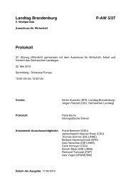 Landtag Brandenburg P-AW 5/37 Protokoll