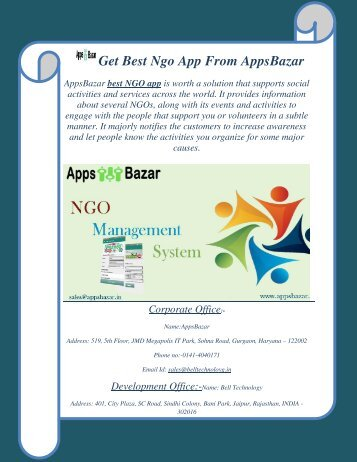 Get Best Ngo App From AppsBazar