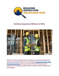BuildingInspectionsMelbourneWide