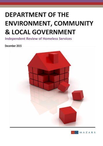 ENVIRONMENT COMMUNITY & LOCAL GOVERNMENT