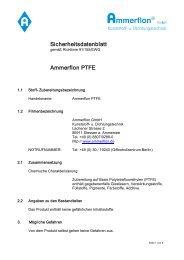 Ammerflon PTFE - Ammerflon GmbH Kunststoff- u. Dichtungstechnik